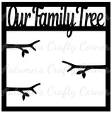 Our Family Tree - Branches - Scrapbook Page Overlay Die Cut - Choose a Color