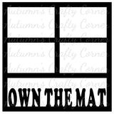 Own the Mat - Wrestling - 4 Frames - Scrapbook Page Overlay Die Cut - Choose a Color