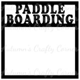 Paddle Boarding - Scrapbook Page Overlay Die Cut - Choose a Color