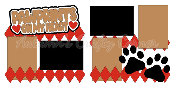 Pawprints on my Heart - Dog - Cat - Die Cut Kit