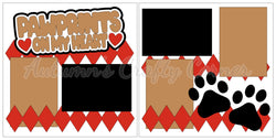 Pawprints on my Heart - Scrapbook Page Kit