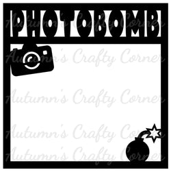 Photobomb - Scrapbook Page Overlay Die Cut - Choose a Color