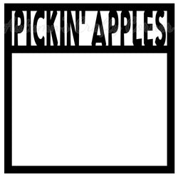 Pickin' Apples - Scrapbook Page Overlay Die Cut - Choose a Color