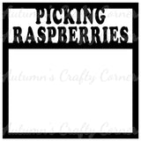 Picking Raspberries - Scrapbook Page Overlay Die Cut - Choose a Color