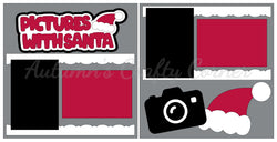 Pictures with Santa - Scrapbook Page Kit