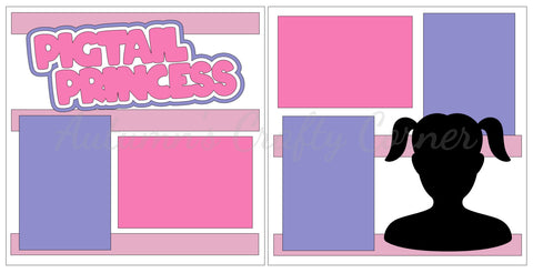 Pigtail Princess - Scrapbook Page Kit