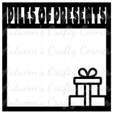Piles of Presents - Scrapbook Page Overlay Die Cut - Choose a Color