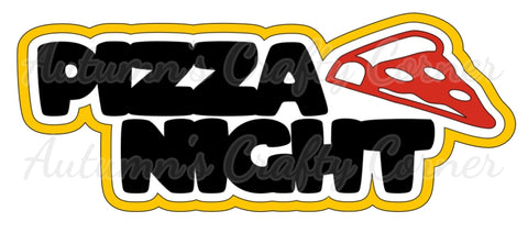Pizza Night - Deluxe Scrapbook Page Title