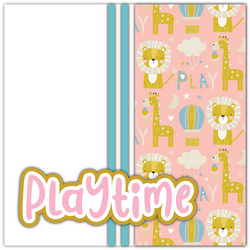 Playtime - Printed Premade Scrapbook Page 12x12 Layout
