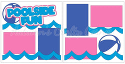 Poolside Fun - Scrapbook Page Kit