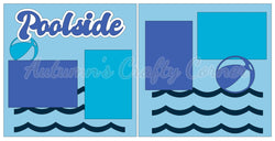 Poolside - Scrapbook Page Kit