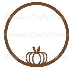 Pumpkin - Circle - Scrapbook Page Overlay Die Cut - Choose a Color
