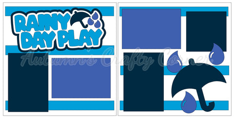 Rainy Day Play - Scrapbook Page Kit