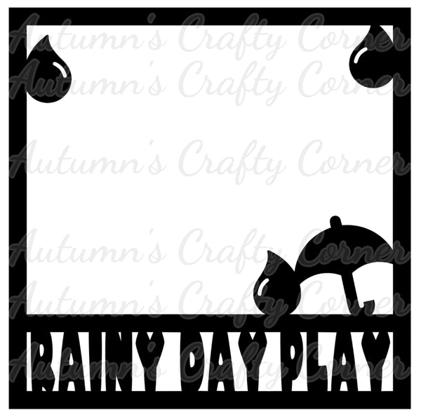Rainy Day Play - Scrapbook Page Overlay Die Cut - Choose a Color