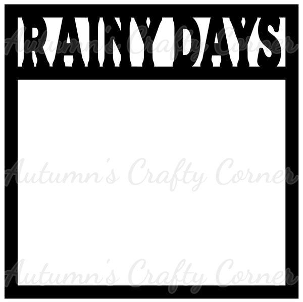 Rainy Days - Scrapbook Page Overlay Die Cut - Choose a Color