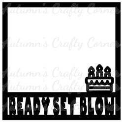 Ready Set Blow - Scrapbook Page Overlay Die Cut - Choose a Color