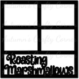 Roasting Marshmallows - 4 Frames - Scrapbook Page Overlay Die Cut - Choose a Color