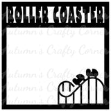 Roller Coaster - Scrapbook Page Overlay Die Cut - Choose a Color