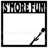 S'more Fun - S'mores - Scrapbook Page Overlay Die Cut - Choose a Color