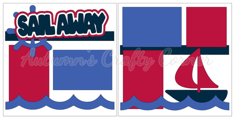 Sail Away - Scrapbook Page Kit