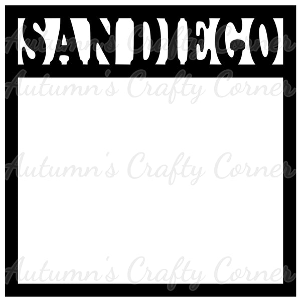San Diego - Scrapbook Page Overlay Die Cut - Choose a Color