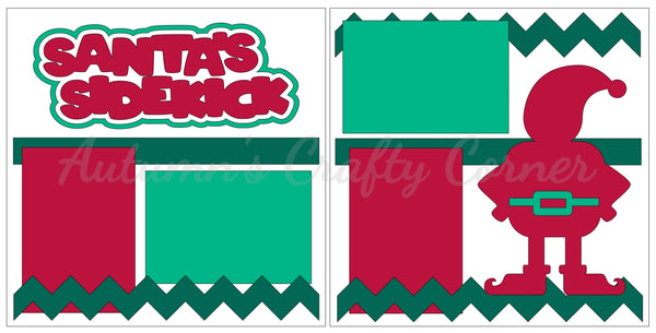 Santa's Sidekick - Scrapbook Page Kit
