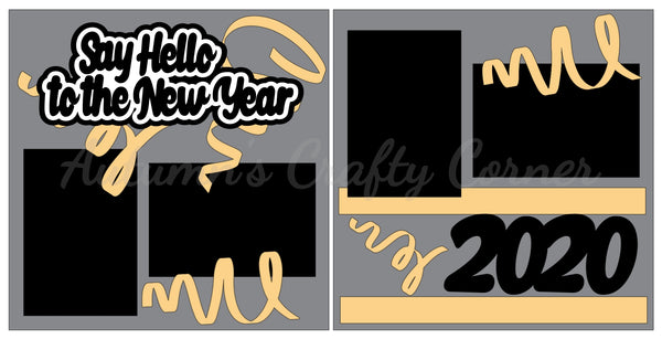 Say Hello to the New Year - Scrapbook Page Kit