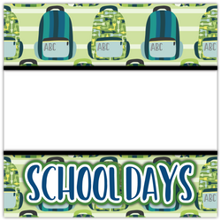 School Days - Boy - Printed Premade Scrapbook Page 12x12 Layout