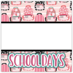 School Days - Girl - Printed Premade Scrapbook Page 12x12 Layout