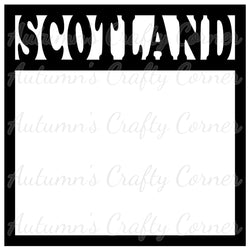 Scotland - Scrapbook Page Overlay Die Cut - Choose a Color