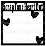 Scrap Your Heart Out - Scrapbook Page Overlay Die Cut - Choose a Color