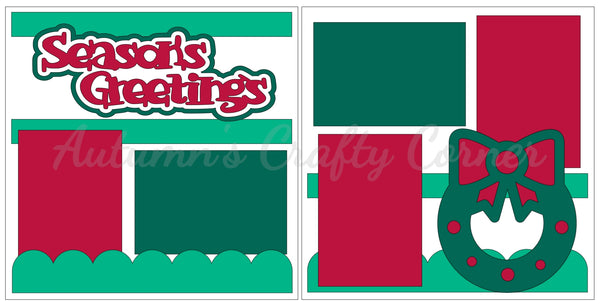 Season's Greetings - Scrapbook Page Kit