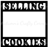 Selling Cookies - Scrapbook Page Overlay Die Cut - Choose a Color