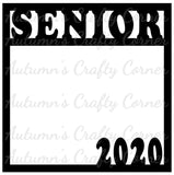 Senior 2020 - Scrapbook Page Overlay Die Cut - Choose a Color