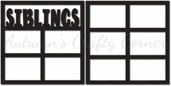 Siblings - Scrapbook Page Overlay Set - Choose a Color