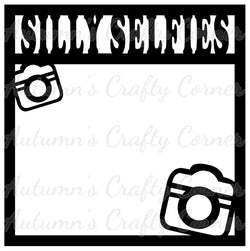 Silly Selfies - Cameras - Scrapbook Page Overlay Die Cut - Choose a Color