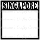 Singapore - Scrapbook Page Overlay Die Cut - Choose a Color