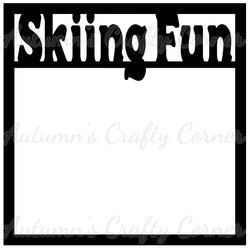 Skiing Fun - Scrapbook Page Overlay Die Cut - Choose a Color