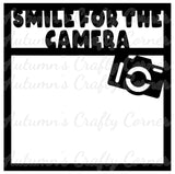 Smile for the Camera - Scrapbook Page Overlay Die Cut - Choose a Color