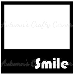 Smile - Polaroid - Scrapbook Page Overlay Die Cut - Choose a Color