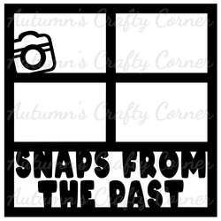 Snaps from the Past - 4 Frames - Scrapbook Page Overlay Die Cut - Choose a Color