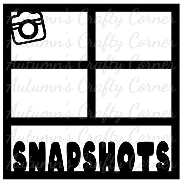 Snapshots - 4 Frames - Scrapbook Page Overlay Die Cut - Choose a Color