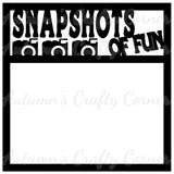 Snapshots of Fun - Scrapbook Page Overlay Die Cut - Choose a Color