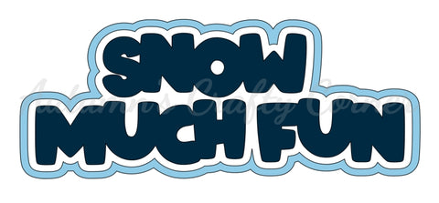 Snow Much Fun - Deluxe Scrapbook Page Title