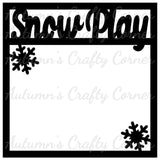 Snow Play - Scrapbook Page Overlay Die Cut - Choose a Color