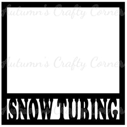 Snow Tubing - Scrapbook Page Overlay Die Cut - Choose a Color