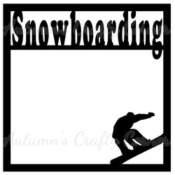 Snowboarding - Scrapbook Page Overlay Die Cut - Choose a Color