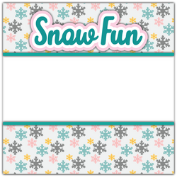 Snow Fun - Printed Premade Scrapbook Page 12x12 Layout