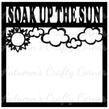 Soak Up the Sun - Scrapbook Page Overlay Die Cut - Choose a Color