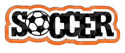 Soccer - Deluxe Scrapbook Page Title - Choose a Color